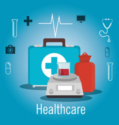 Medical healthcare flat icons vector