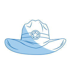 hat cowboy icon weatern accessory character vector image