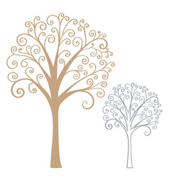 Abstract stylized tree vector