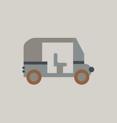 Transportation golf cart flat icon vector