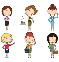 Business ladies vector