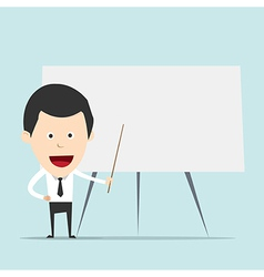 Cartoon business man teaching vector image