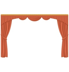 Curtain isolated vector image