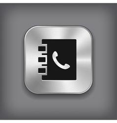 Notepad icon - metal app button vector