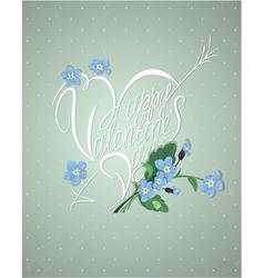 retro valentines card 380 vector image