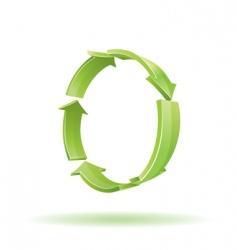 3d arrows recycle symbol vector image