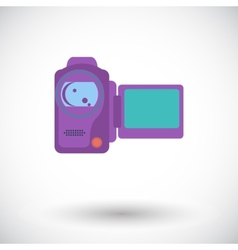 Video camera single icon vector
