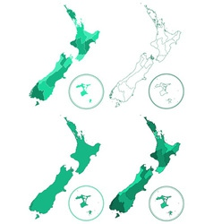 New zealand maps vector
