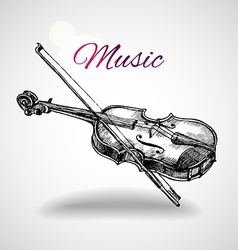 Hand drawn violin vector