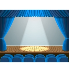 Spotlight on the theater stage vector