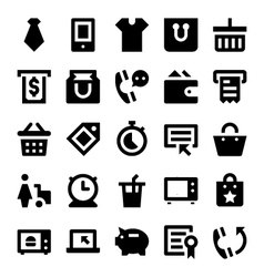 Shopping and retail icons 5 vector