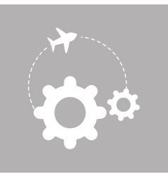 Flat of profit design  editable vector image