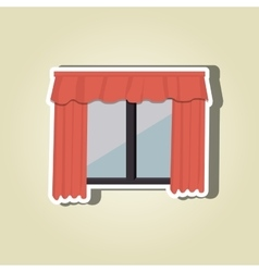 Apartment window design vector