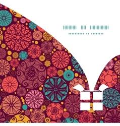 Abstract decorative circles christmas gift box vector