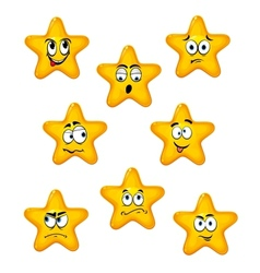 Cartoon stars with different emotions vector image