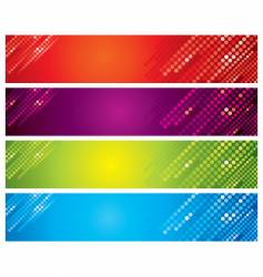 colored banners vector image
