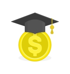 Concept of education fee vector image