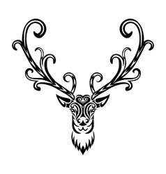 Creative art icon stylized deer vector image vector image