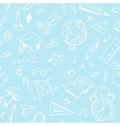 Creative seamless school pattern with white pen vector