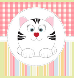 cute cartoon cat vector image vector image