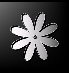 Flower sign gray 3d printed vector