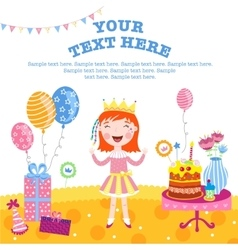 Girl happy birthday gifts vector