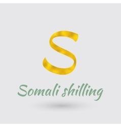 Golden symbol of somali shilling vector