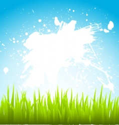 grass and sky vector image vector image
