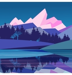 Magnificent landscape with mountains vector