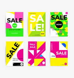 Minimal geometric posters set vector