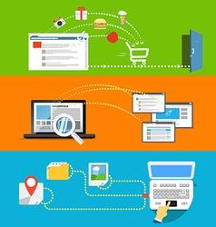 Modern web activities abstract scheme vector