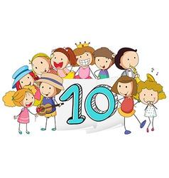 Number 10 vector