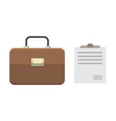 Office personal and business icon briefcase vector