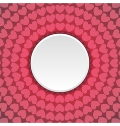 Pink hearts abstract background with blank circle vector