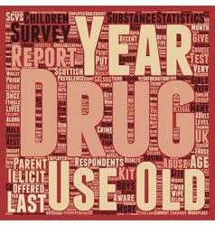 Recent drug abuse statistics text background vector