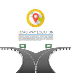 road choice road arrow cover road way location vector image vector image