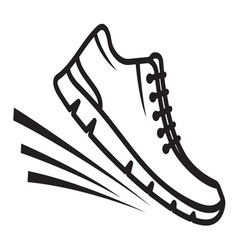 Running shoes icon3 vector image vector image