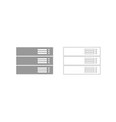 server grey set icon vector image vector image