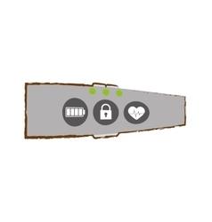Smart bracelet wearable technology vector