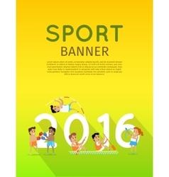 Sport banner 2016 vector