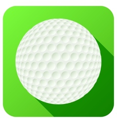 Sport icon with golf ball in flat style vector image vector image