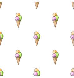 The ice cream balls in wafflesummer rest single vector