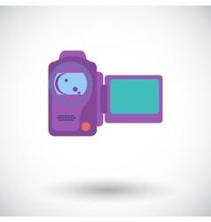 Video camera single icon vector