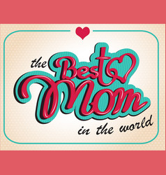 vintage happy mothers s day gift card vector image vector image