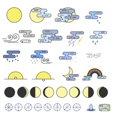 Weather Icons collectoion vector image vector image