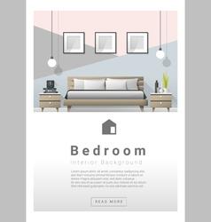 Interior design modern bedroom banner 2 vector