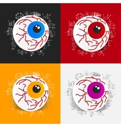Drawing business formulas eye vector