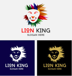 lion king logo vector image