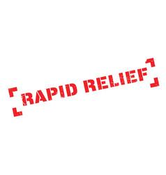 Rapid relief rubber stamp vector
