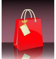 Gift bag with tag vector